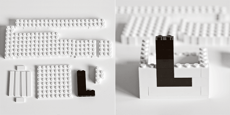 LEGO letter cups Arne Jacobsen inspired by Land of Nord